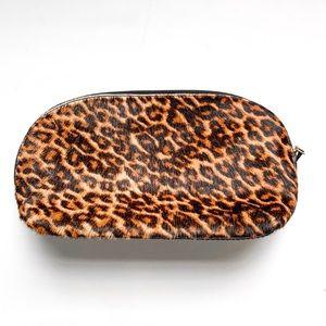 Handbags - Leopard Calf Hair Patent Leather Makeup Bag
